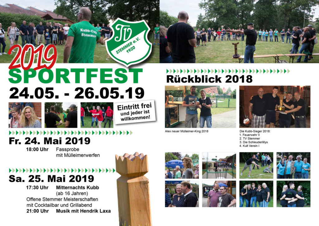 Sportfest 2019 Programm